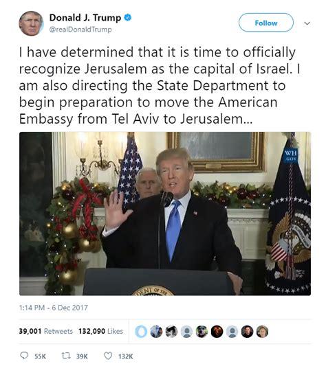donald trump recognize jerusalem under the angsana tree trump did not bring jerusalem