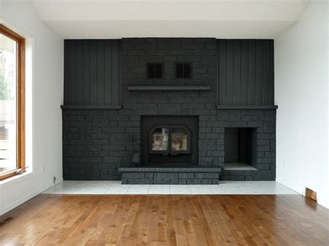kamin streichen remodelaholic gray painted fireplace focal wall