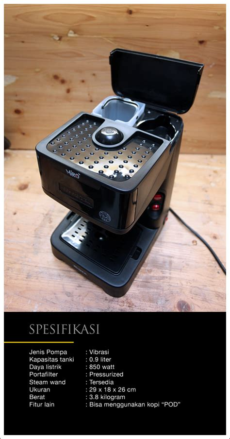 Mesin Kopi Illy miro mesin espresso 1 7 jutaan cikopi