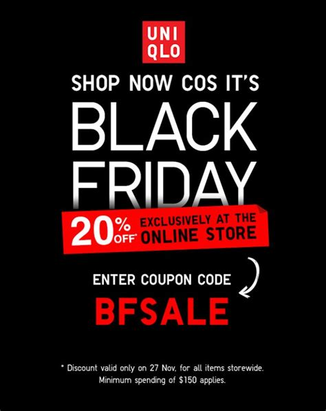 20 This To Voucher Month Means Black Friday Is Alive And Well In The Uk by Uniqlo Store Black Friday Promotion Lets You Save