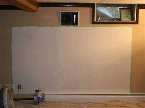 do it yourself projection screen