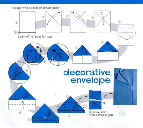 envelope origami feelings