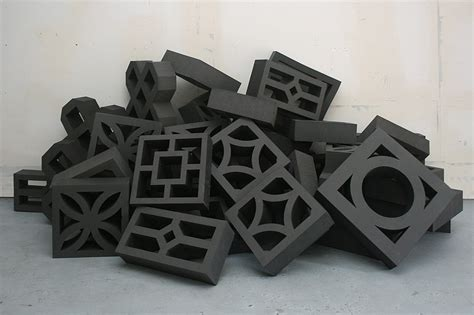 Rubber Sculpture Block steven leyden cochrane screen wall blocks
