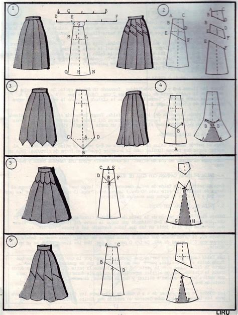 pattern types clothing modeling skirts selection simple patterns fashions