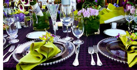 wedding table decorations purple and green weddings