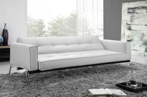 white leather convertible sofa bed romano convertible sofa bed in white eco leather