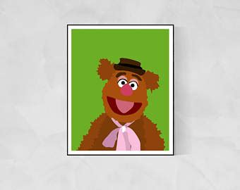 mirror movie clip fozzie bear kermit the frog etsy your place to buy and sell all things handmade