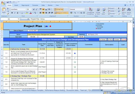 performance management templates free performance management plan performance