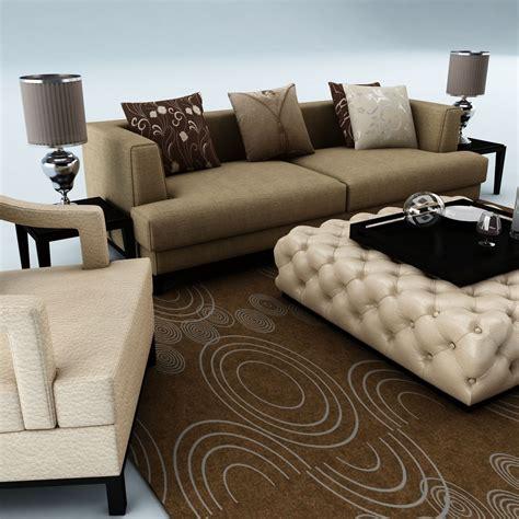 sofa set models sofa set 040 3d model max obj 3ds fbx cgtrader