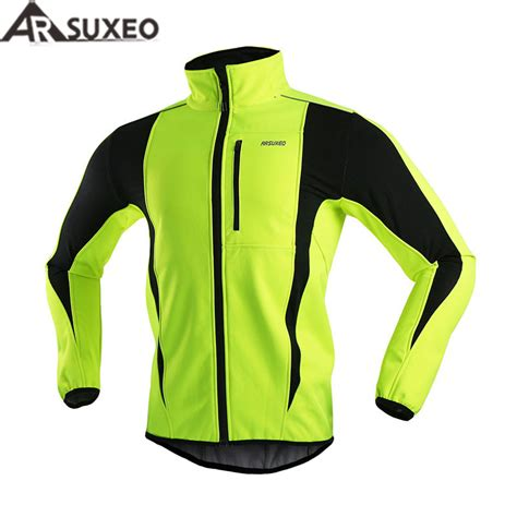 warm cycling jacket arsuxeo 2017 thermal cycling jacket winter warm up bicycle