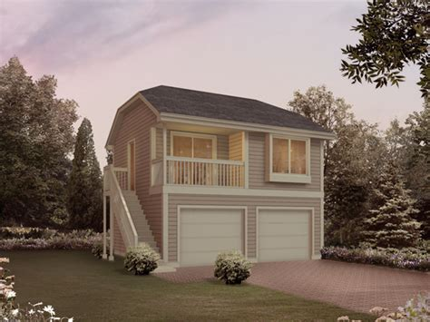 2 Car Garage Apartment Plans Two Car Garage Apartment With Second Floor Deck 063d 7506