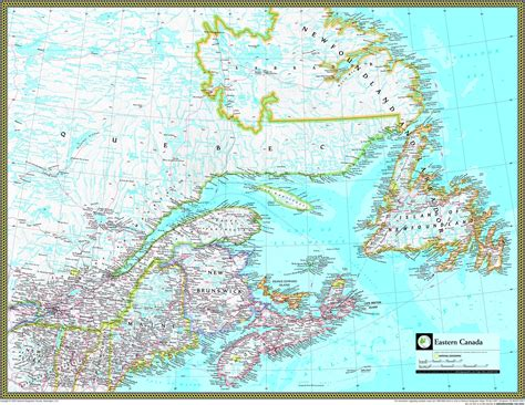 atlas map of canada eastern canada atlas wall map maps
