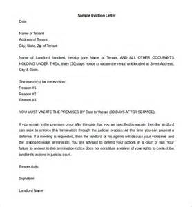 notice of eviction letter template 7 eviction letter templates free sle exle format