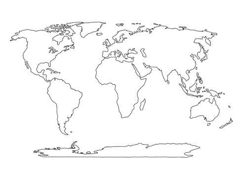blank world maps  countries papers map worksheet