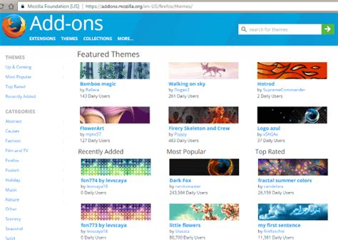 themes firefox add ons 3 free websites to get themes for firefox