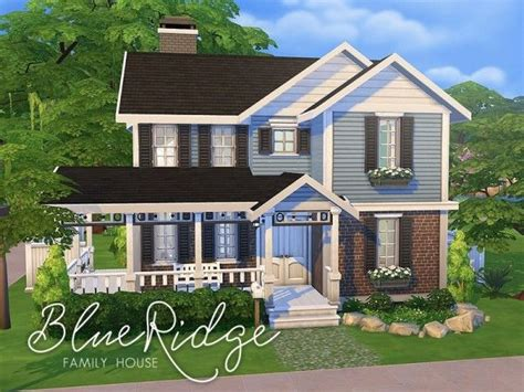 house layout sims the sims resource blue ridge family house by smubuh