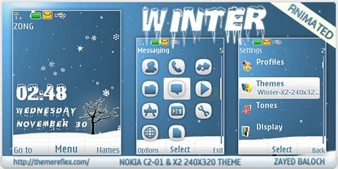 nokia c2 moving themes winter animated theme for nokia x2 c2 01 240 215 320