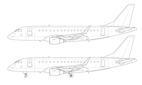 embraer erj 175 blank illustration templates norebbo