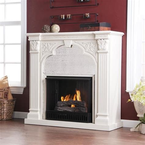 Fireplace Overstock by Kidwell Antique White Gel Fuel Fireplace Modern Indoor