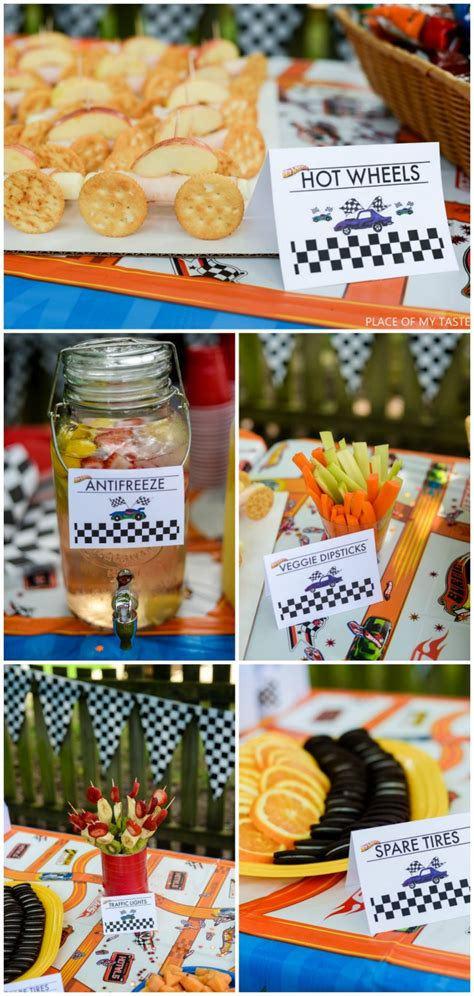hot birthday themes party ideas for boys hot wheels party printables place