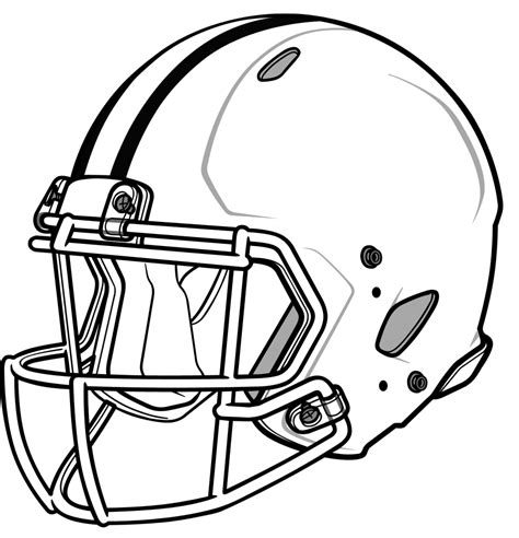 Football Helmet Outline Profile by Football Helmet Drawing Cliparts Co