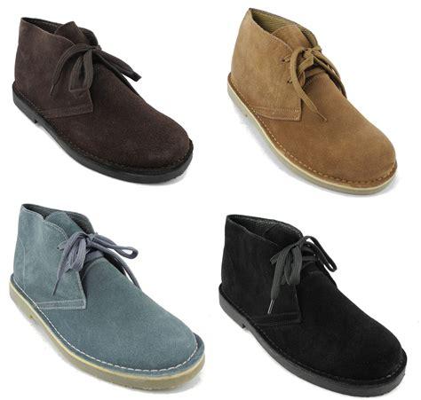 mens dessert boots mens toe real suede leather desert boots beige black