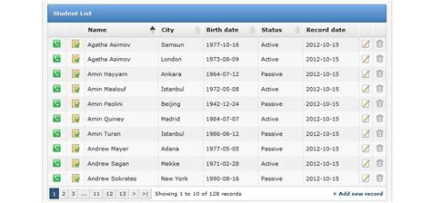jquery ui layout and data tables new jquery table plugins to organize your data 21 items