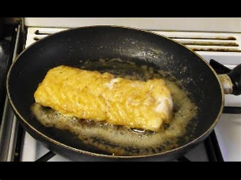 how to cook cod pan fried skinless cod fillet youtube