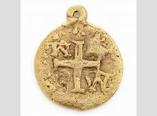 Pewter-18mm Ancient Disc With Cross Pendant-Gold- Tamara ... Gold Hematite Beads