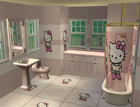 mod the sims hello kitty bathroom base game only