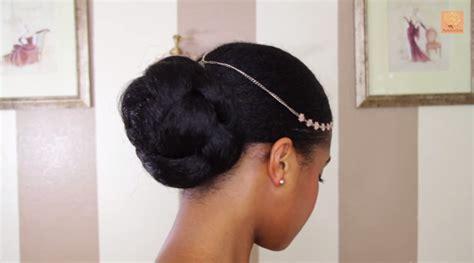 faux bun hairstyles gorgeous and easy low faux bun natural hair tutorial