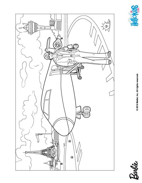 ken doll coloring page ken and barbie s aircraft coloring pages hellokids com