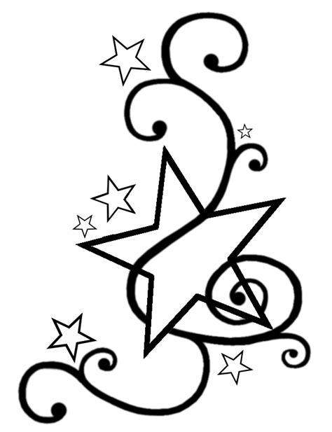printable star tattoo designs swirly star tattoo design template by darkhaiiro