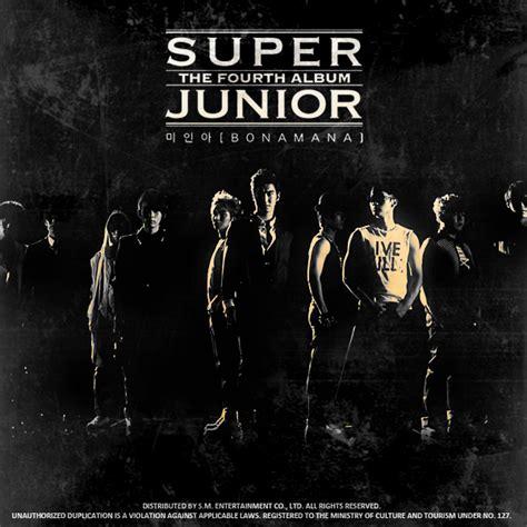 download mp3 album play super junior super junior bonamana 4th album fanmade cover by