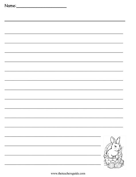 Writing Templates For 3rd Grade by Easter Printouts From The S Guide