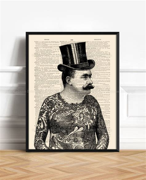 tattoo lover gifts tattooed gentleman tattoo lover gift tattoo poster funny