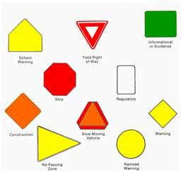 what color are regulatory signs pin regulatory signs are what color on