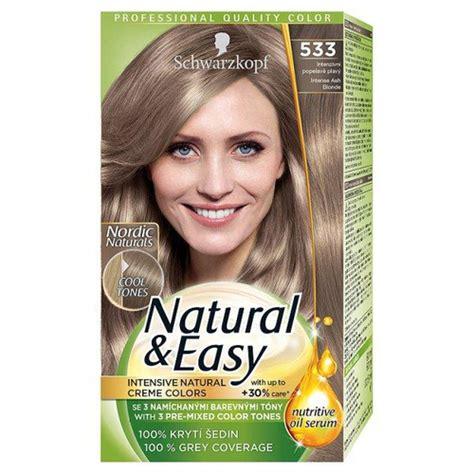 how to mix schwarzkopf hair color schwarzkopf natural easy 533 intense ash blonde hair