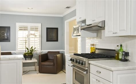 blue grey wall paint kitchen gray walls gorgeous small white blue kitchen design with white kitchen cabinets