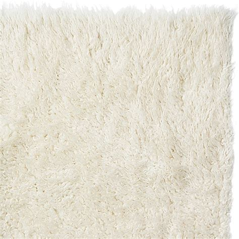 Shag Rug White by Eco Friendly Wool Flokati Shag Rug White 8 X 10