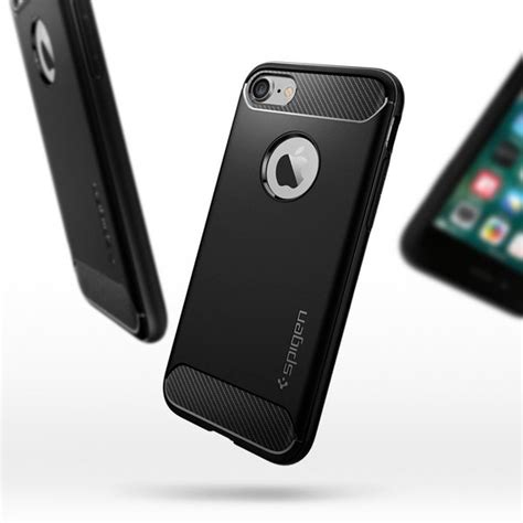 Hardccase Casing Rugged Carbon Cover Soft Iphone X Apple Ringstand iphone 7 genuine spigen rugged armor resilient soft tough cover for apple