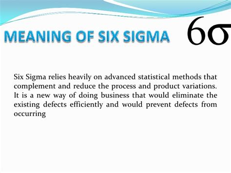Six Sigma Versus Mba by Six Sigma Ppt