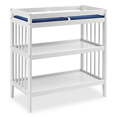 Westwood Design Echo Changing Table With Pad In White Changing Table With Pad