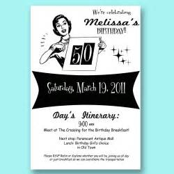vintage retro 50th birthday invitation 30 40 50 mad by girlsatplay