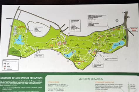Map Of Singapore Botanic Gardens Photo Brian Mcmorrow Singapore Botanical Garden Map