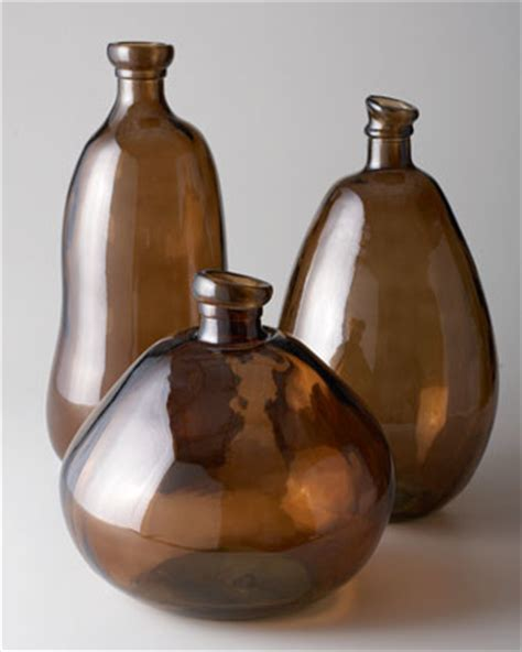 Brown Glass Vases by Medium Brown Glass Vase Traditional Vases By Horchow