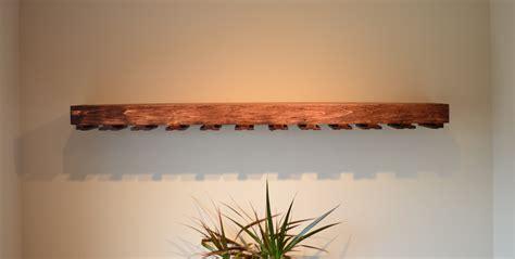 building floating shelf with wine glass rack steve zazeski