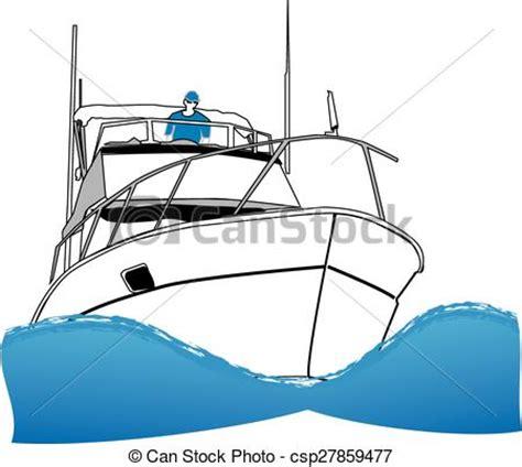 sport fishing boat artwork vectors illustration of offshore sport fishing boat