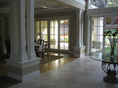 Chic Sliding French Doors technique cased opening columns