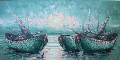 Lukisan Perahu pm 05 lukisan perahu nelayan sukawati